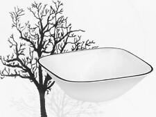 CORELLE Square TIMBER SHADOWS 22-oz SOUP Cereal BOWL Black Rim Leafless Branches