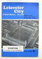 LEICESTER CITY V EVERTON FOOTBALL PROGRAMME 1967/68