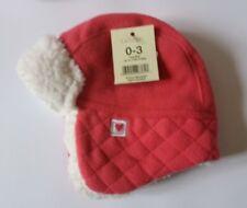 Pink Hat 3-6 Months. Warm Fleece Lined Hat. *