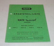 Teilekatalog Hatz Diesel Motor E 671 L E 671 R E 571 L E 571 R Stand 08/1968