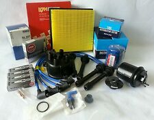 Cap-Rotor-NGK Wires-Spark Plug-Filter Kit Honda Civic Si 1.6L DOHC B16A2