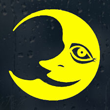 Funny JDM Cartoon Smiley Moon Car Decal Vinyl Sticker