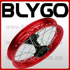 "RED 90/100 - 14"" Inch Alloy Rear Back Wheel Rim PIT PRO Trail Bigfoot Dirt Bike"