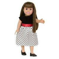 "Doll Clothes Fit 18"" Dress Black White Polka Dot Fits American Girl Dolls"