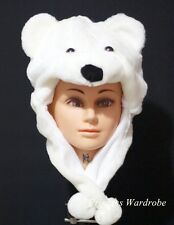 For Halloween Cute White Polar Bear Hat Party Costume ONE Free Size Gift Present