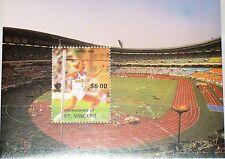 ST VINCENT GRENADINES 1988 Block Olympics Olympia Seoul Hochsprung High Jump MNH
