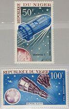 Níger 1966 137-38 c64-65 Russian & American achievements in Space espacio mnh