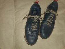 COLE  HAAN  ZEROGROUND  GRAND OS. NAVY  PERFORATED LEATHEr  OXFORDS 10.5 M