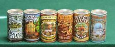 American Brewers Collection set of 6 Flat Top Beer Cans #'s 1 to 6 Huber Brewing