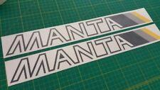 Vauxhall Opel Manta B2 182 - 1988 GSI GTE 1.8S decals stickers restoration