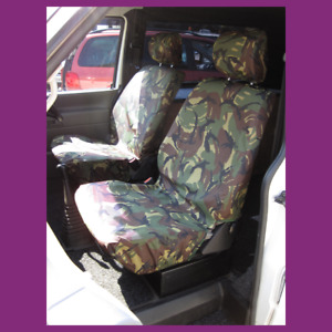 VW Transporter T4 Front Pair Tailored Waterproof Camouflage Seat Covers