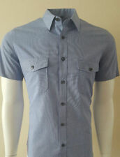 Big & Tall Short Sleeve Checked Formal Shirts for Men