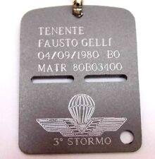 FORZE ARMATE ITALIA PIASTRINA MILITARE IDENTIFICATIVA INCISA SATINATA