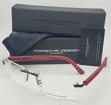 New PORSCHE DESIGN Eyeglasses P'8233 A 60-16 135 Rimless Black & Red Frames