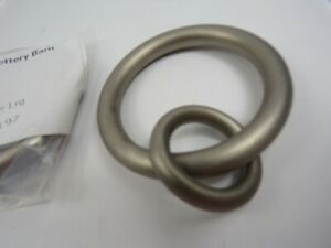Pottery Barn S/4 Double Ring Pewter Large #6113