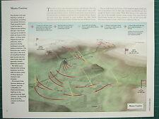 WW2 WWII MAP ~ MONTE CASSINO GERMAN 10th ARMY GEN VIETINGHOFF CASTLE HILL