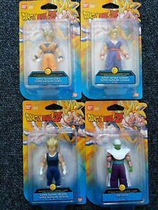 Dragon Ball Z BanDai Soft Figures X4 New Goku, Gohan, Piccolo & Vegeta DBZ