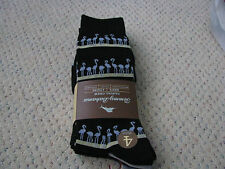 Tommy Bahama 4 Pair Mens Socks Casual Crew Blue Flamingo 4pk  Retail $22