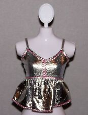 Barbie Doll Clothes Fashionista Life in the Dreamhouse Metallic Silver Top Shirt
