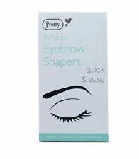 Pretty Eyebrow Shapers  28 Wax Strips Brow Shaper Hair Removal Waxing