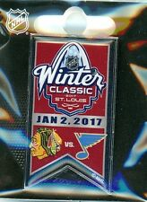 2017 NHL Winter Classic Banner Pin St. Louis Blues vs Chicago Blackhawks  A