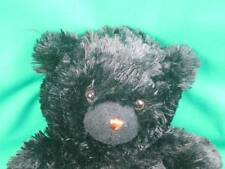 Black Shiny Long Hair Fuzzy Teddy Bear It'S All Greek To Me Plush Stuffed Animal