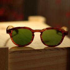 Large Retro Vintage johnny depp sunglasses artists blonde frame green glass lens