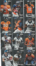 2014 DENVER BRONCOS 40 Card Lot w/ PANINI PRIZM Team Set 23 CURRENT Players