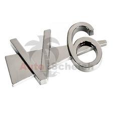 V6 Emblem caracteres cromo letras cheers auto pegatinas capó guardabarros logo 3d