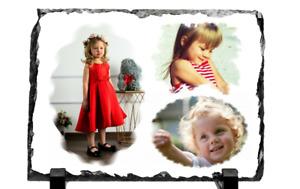 Personalised Photo Rock Slate 3 Photos Collage