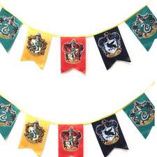 12 Harry Potter Slytherin Ravenclaw Hogwarts Gryffindor Flag Banner Bunting
