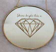 Sale 1 Spiegel Schild Tafel Bild Mit Gold Wandbild, Shine Bright Like A Diamond
