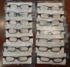 Vintage 14 Pc. Elan 9224 Tortoise 49/18 Plastic Eyeglass Frame Lot Nos #350