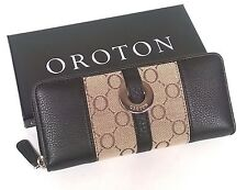 Oroton Wallet O Signature Essentials Multipocket Zip Around Clutch