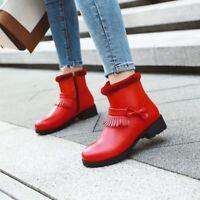 Lolita Womens Sweet Winter Fur Trim Bowknot Fringe Boots Snow Boots Size LHM15