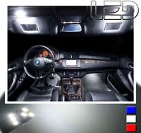 19 Ampoules LED BLANC BMW E53 X5 Plafonnier Habitacle Miroirs sols coffre Portes