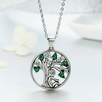 Tree of Life Silver Necklace Cubic Zirconia Stones