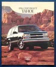 Prospekt brochure 1996 Chevrolet Chevy Tahoe (USA)
