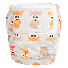 Large Adult Cloth Diaper Reusable Incontinence Baby Fox Age Role Play Hook Loop