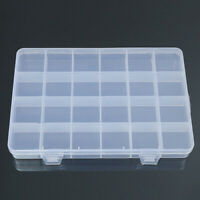24 Grid Plastic Box Case Jewelry Bead Storage Container Craft Organizer Trendy