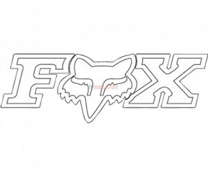 FOX TDC-Aufkleber: Corporate 19x7cm, weiß,