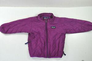 Patagonia ~ Girls 12M ~Purple Down Coat / Puffer Jacket ~Nano Puff ~Baby Toddler
