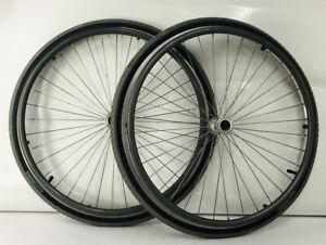 "Pair of 24"" Sunrims SW6000 Wheelchair Wheels 36 Spoke w/ Hand rims NO AXLE"