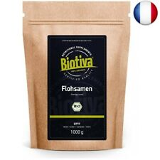 Psyllium Bio 1kg, tout (1000g) - qualité supérieure avec une pureté de 99% - Sa
