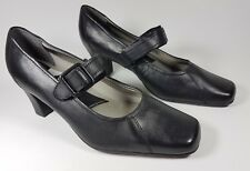 M & S Footglove black leather mid heel shoes uk 5.5 worn once