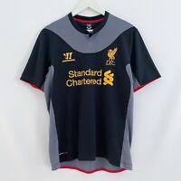 Liverpool Warrior 2012/2013 Away Soccer Football Black Jersey Shirt Mens Medium