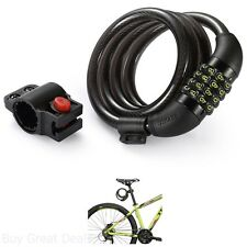 Bike Lock Cable 4-Feet Bike Cable Basic Self Coiling Resettable Combination