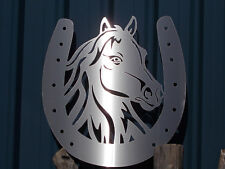 """Wall Art Stainless Steel """"Horse Shoe"""""""