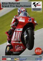 Motorrad GP Deutschland Sachsenring Rennprogramm 2008 7/08 Motorradrennen