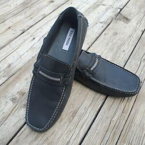 Steve Madden Men's Black Leather Loafers size 13 EUC